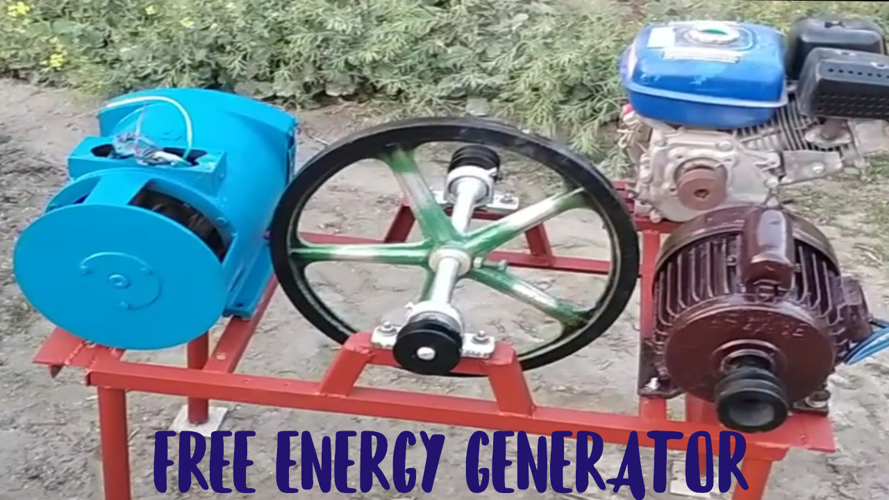 How To Make Free Energy Generator With wheel